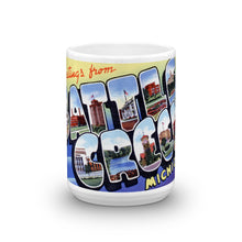 Greetings from Battle Creek Michigan Unique Coffee Mug, Coffee Cup