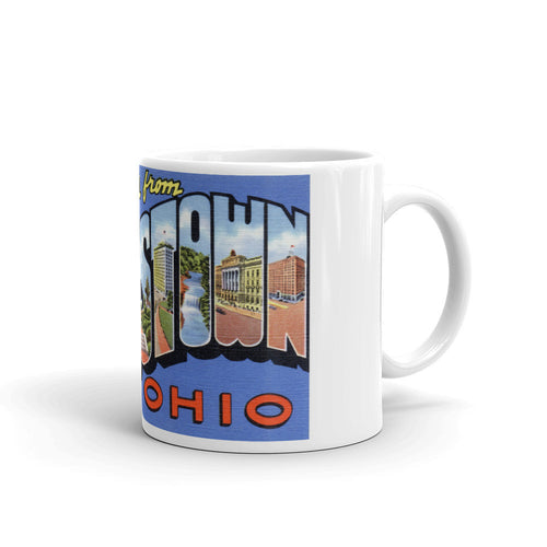 Greetings from Youngstown Ohio Unique Coffee Mug, Coffee Cup