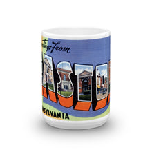 Greetings from Easton Pennsylvania Unique Coffee Mug, Coffee Cup
