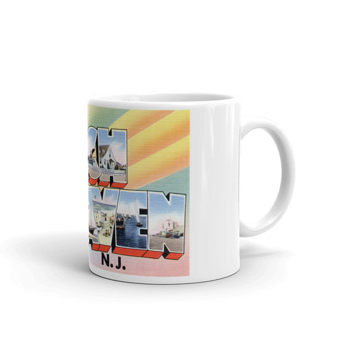 Greetings from Beach Haven New Jersey Unique Coffee Mug, Coffee Cup