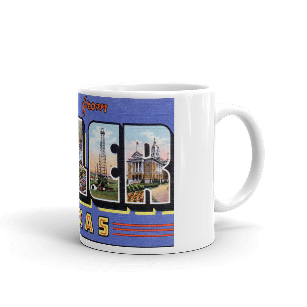 Greetings from Tyler Texas Unique Coffee Mug, Coffee Cup