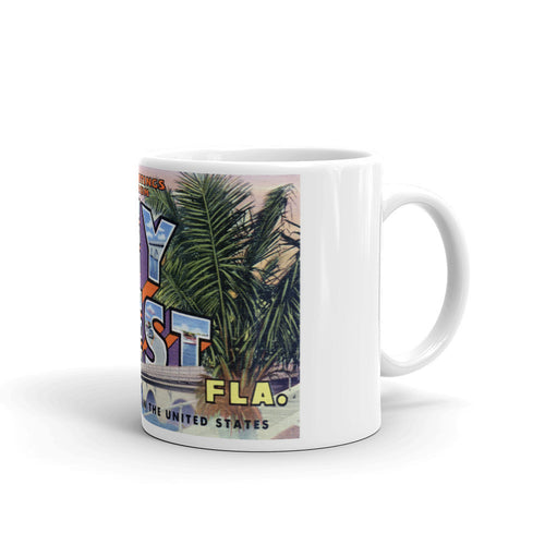 Greetings from Key West Florida Unique Coffee Mug, Coffee Cup