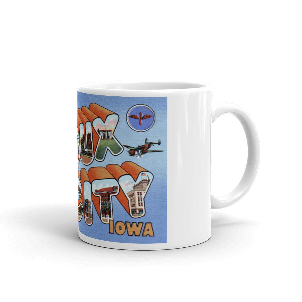 Greetings from Sioux City Iowa Unique Coffee Mug, Coffee Cup