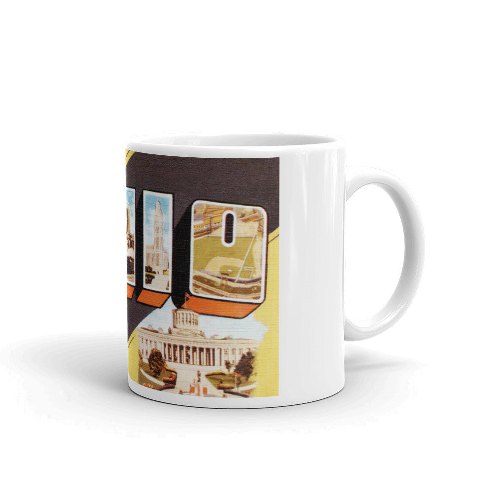 Greetings from Ohio Unique Coffee Mug, Coffee Cup 3