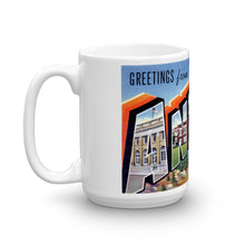 Greetings from Antigo Wisconsin Unique Coffee Mug, Coffee Cup