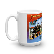 Greetings from Monterey California Unique Coffee Mug, Coffee Cup