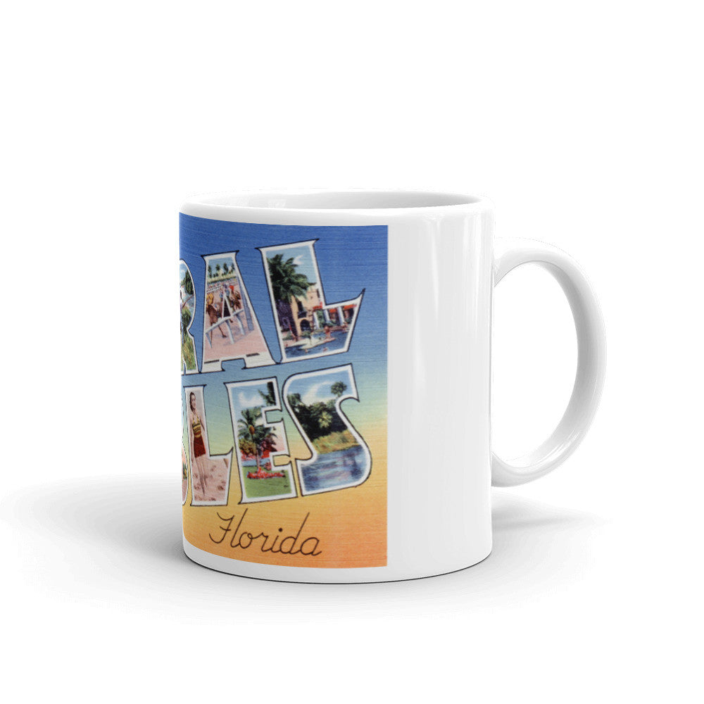 Greetings from Coral Gables Florida Unique Coffee Mug, Coffee Cup 1