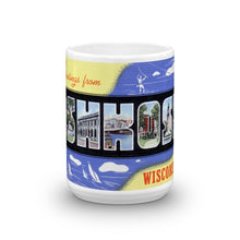 Greetings from Oshkosh Wisconsin Unique Coffee Mug, Coffee Cup 2