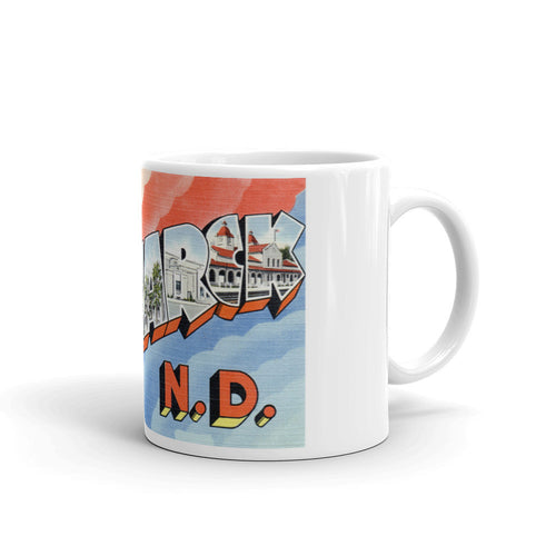 Greetings from Bismarck North Dakota Unique Coffee Mug, Coffee Cup 2