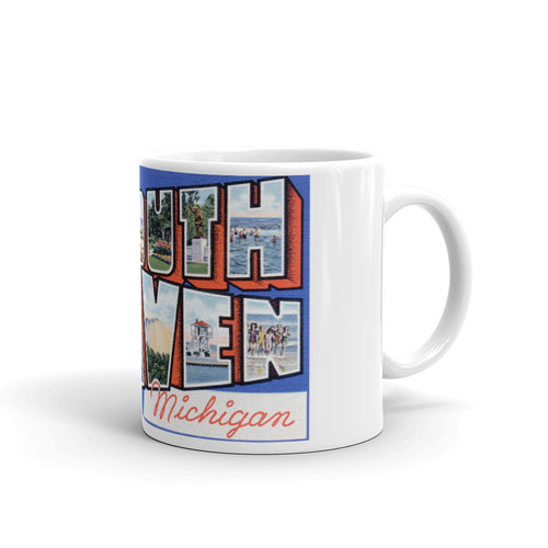 Greetings from South Haven Michigan Unique Coffee Mug, Coffee Cup