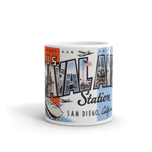 Greetings from US Naval Air Station San Diego California Unique Coffee Mug, Coffee Cup