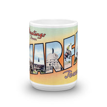 Greetings from Marfa Texas Unique Coffee Mug, Coffee Cup
