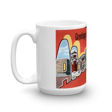 Greetings from Aberdeen South Dakota Unique Coffee Mug, Coffee Cup