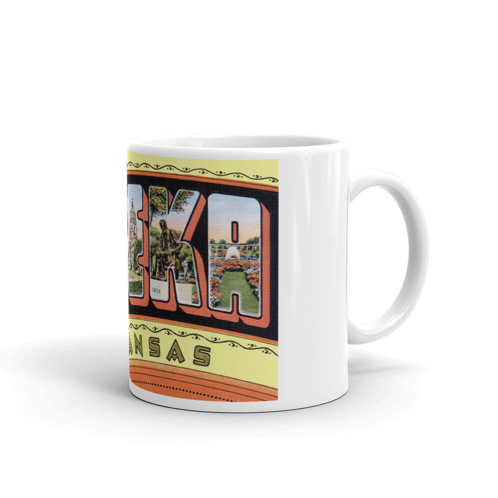 Greetings from Topeka Kansas Unique Coffee Mug, Coffee Cup 1