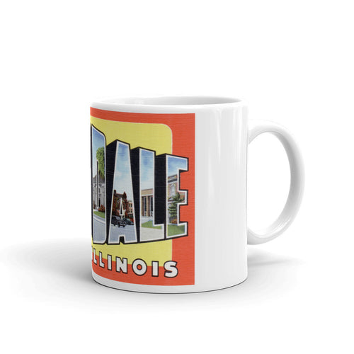 Greetings from Hinsdale Illinois Unique Coffee Mug, Coffee Cup