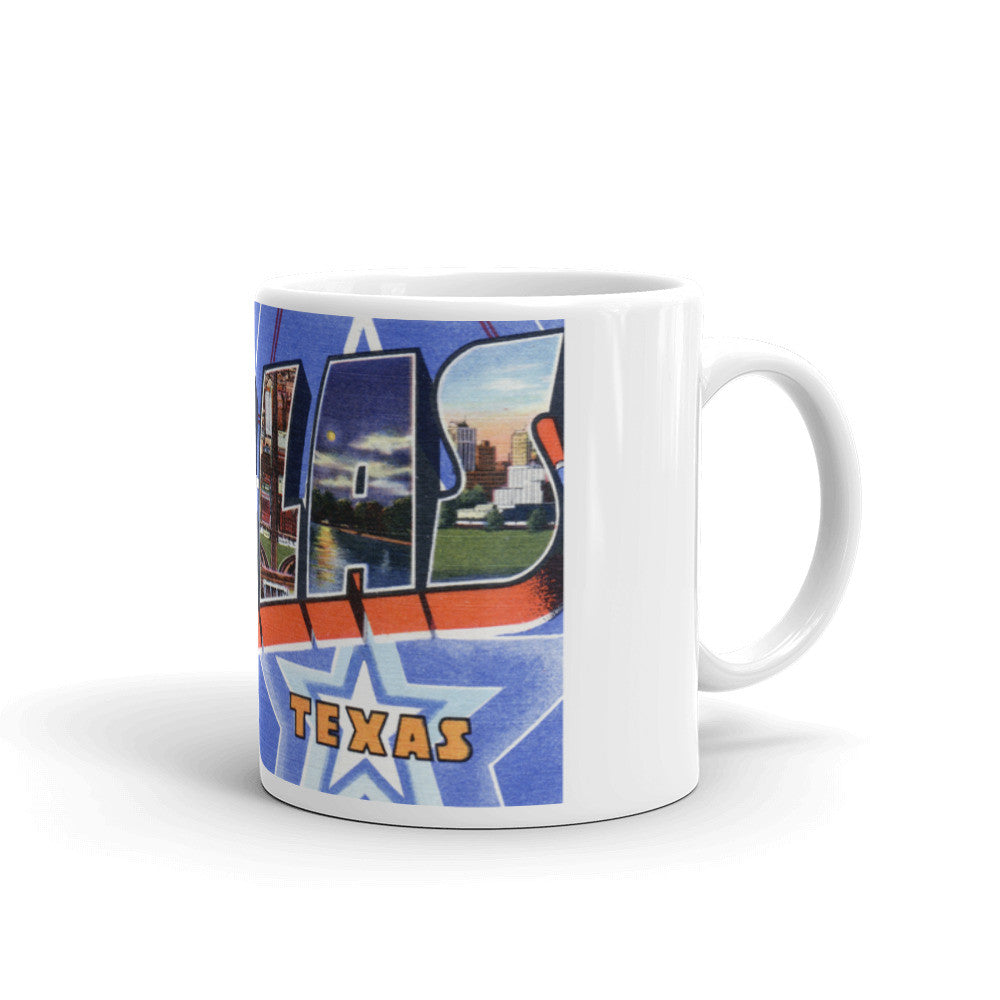 Greetings from Dallas Texas Unique Coffee Mug, Coffee Cup 3