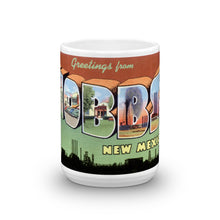 Greetings from Hobbs New Mexico Unique Coffee Mug, Coffee Cup