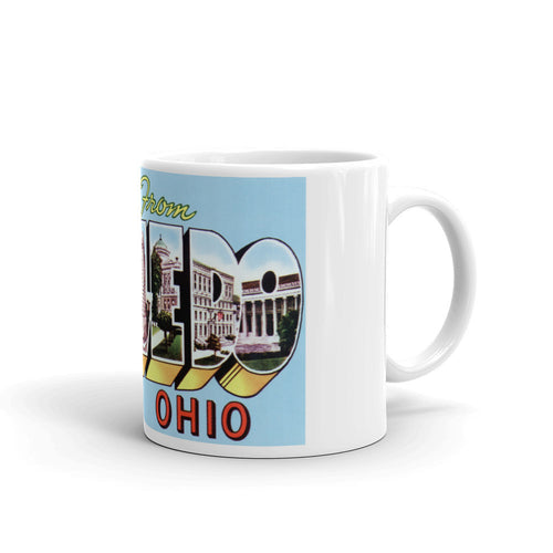 Greetings from Toledo Ohio Unique Coffee Mug, Coffee Cup 2