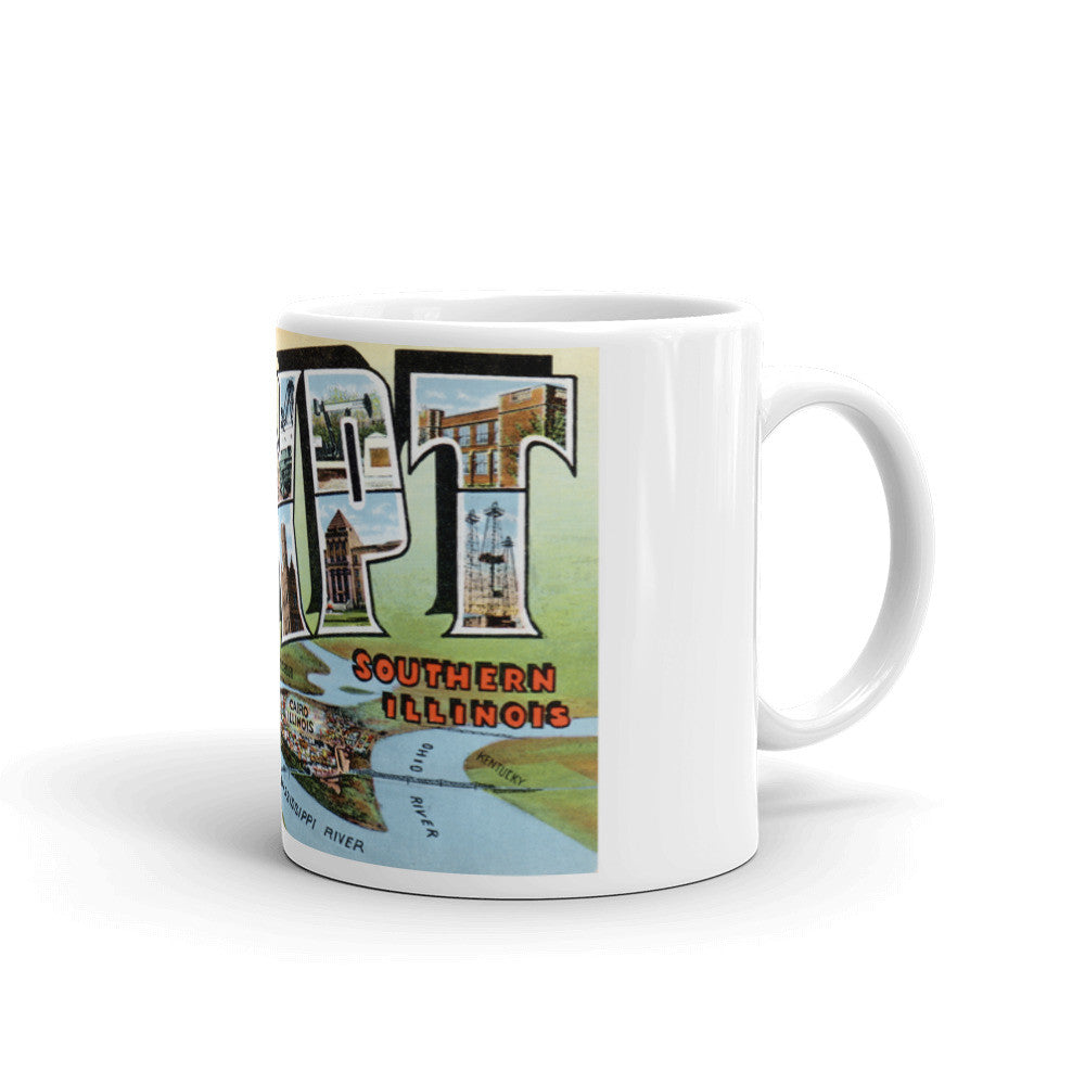 Greetings from Egypt Illinois Unique Coffee Mug, Coffee Cup