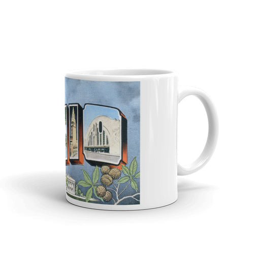 Greetings from Ohio Unique Coffee Mug, Coffee Cup 2