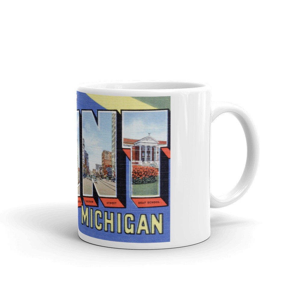 Greetings from Flint Michigan Unique Coffee Mug, Coffee Cup
