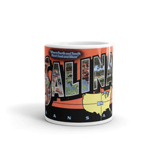 Greetings from Salina Kansas Unique Coffee Mug, Coffee Cup
