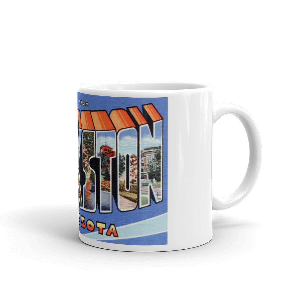 Greetings from Crookston Minnesota Unique Coffee Mug, Coffee Cup