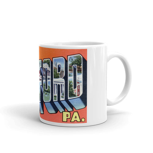 Greetings from Bedford Pennsylvania Unique Coffee Mug, Coffee Cup