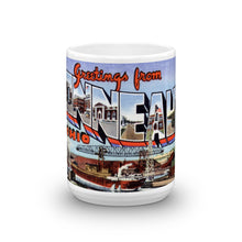 Greetings from Conneaut Ohio Unique Coffee Mug, Coffee Cup