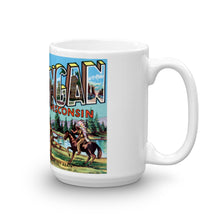 Greetings from Sheboygan Wisconsin Unique Coffee Mug, Coffee Cup