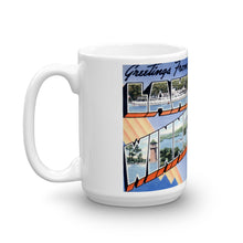 Greetings from Lake Winnipesaukee New Hampshire Unique Coffee Mug, Coffee Cup