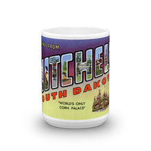 Greetings from Mitchell South Dakota Unique Coffee Mug, Coffee Cup