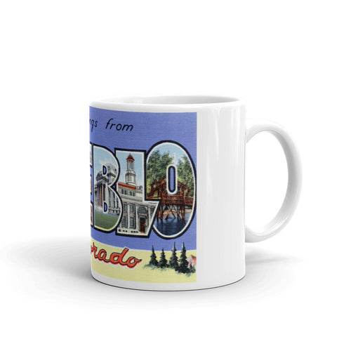 Greetings from Pueblo Colorado Unique Coffee Mug, Coffee Cup