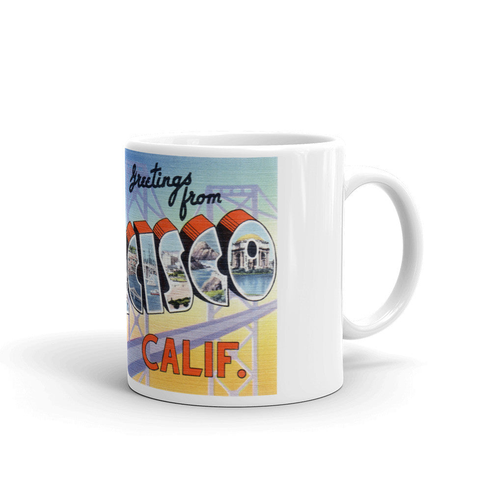 Greetings from San Francisco California Unique Coffee Mug, Coffee Cup 2