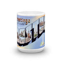 Greetings from Boston Massachusetts Unique Coffee Mug, Coffee Cup 1
