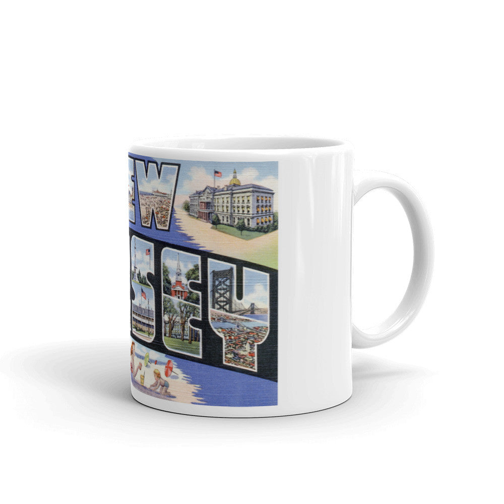 Greetings from New Jersey Unique Coffee Mug, Coffee Cup 2