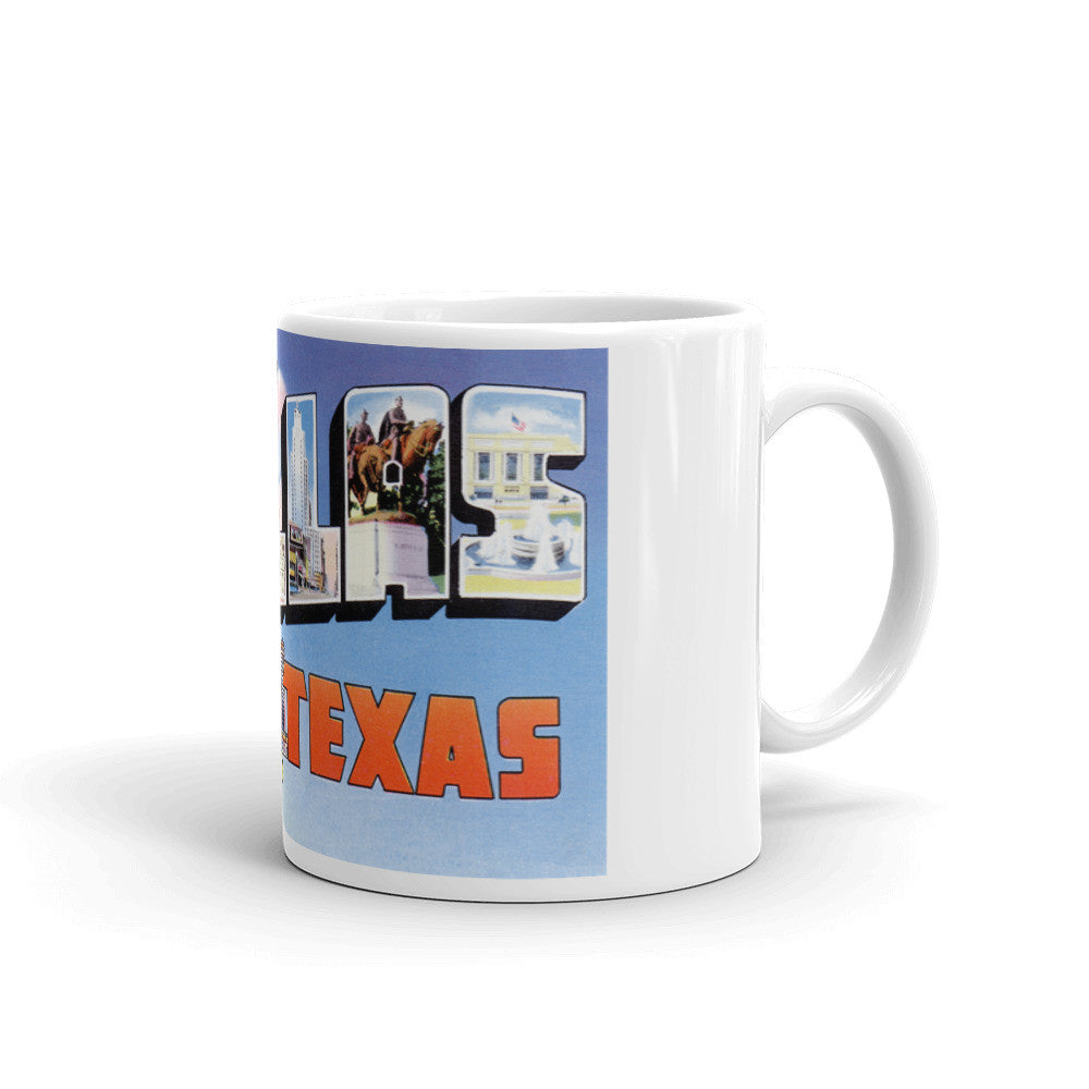 Greetings from Dallas Texas Unique Coffee Mug, Coffee Cup 4