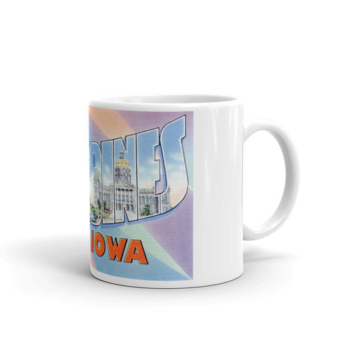 Greetings from Des Moines Iowa Unique Coffee Mug, Coffee Cup 2