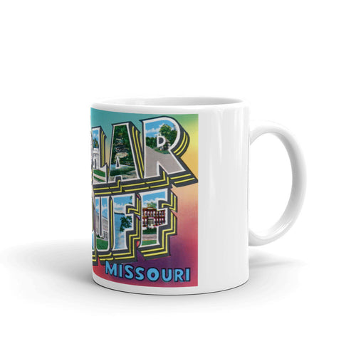 Greetings from Poplar Bluffs Missouri Unique Coffee Mug, Coffee Cup