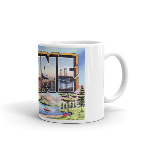Greetings from Maine Unique Coffee Mug, Coffee Cup 3