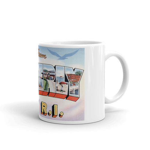 Greetings from Westerly Rhode Island Unique Coffee Mug, Coffee Cup