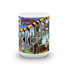 Greetings from Sacramento California Unique Coffee Mug, Coffee Cup 1