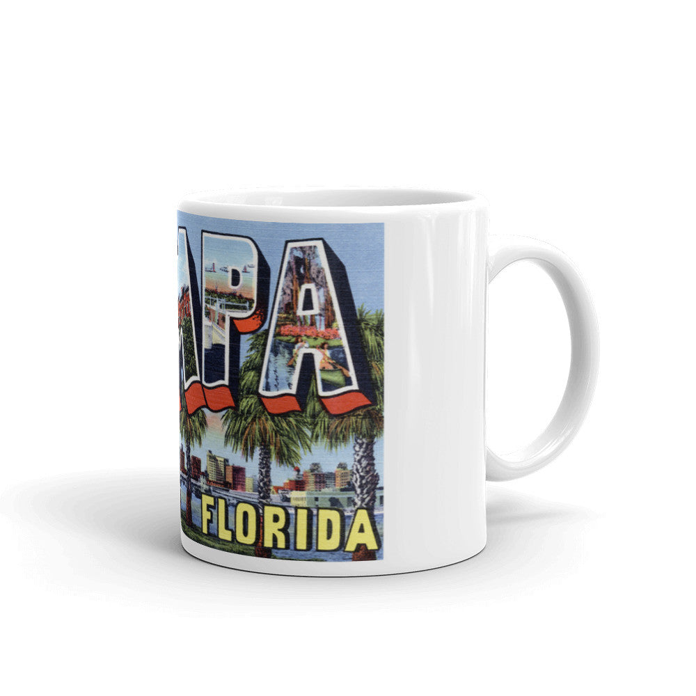 Greetings from Tampa Florida Unique Coffee Mug, Coffee Cup 2