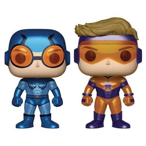 POP! HEROES: DC COMICS - METALLIC BOOSTER GOLD AND BLUE BEETLE 2 PACK