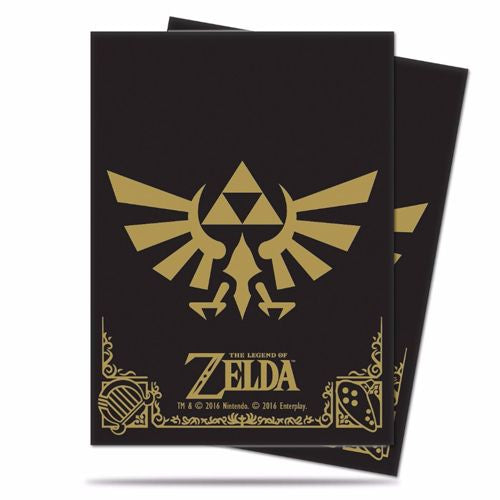 THE LEGEND OF ZELDA: STANDARD SIZED DECK PROTECTOR - BLACK AND GOLD