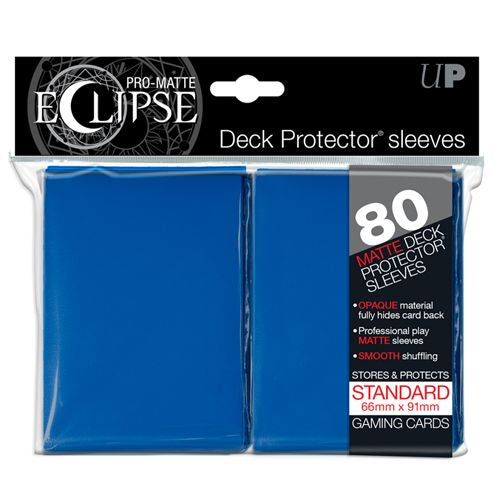 PRO MATTE ECLIPSE: DECK PROTECTOR 80 COUNT PACK - BLUE