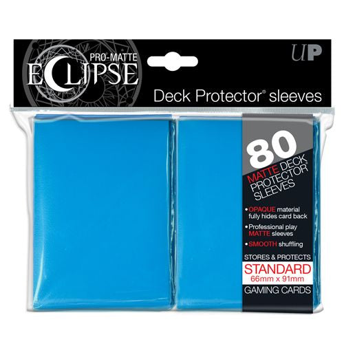 PRO MATTE ECLIPSE: DECK PROTECTOR 80 COUNT PACK - LIGHT BLUE