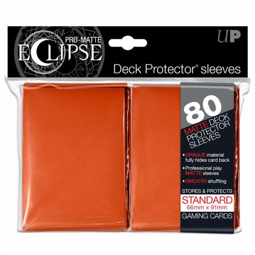 PRO MATTE ECLIPSE: DECK PROTECTOR 80 COUNT PACK - RED