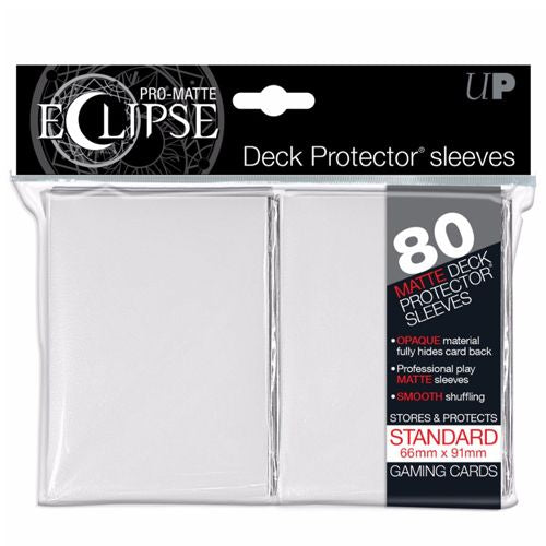 PRO MATTE ECLIPSE: DECK PROTECTOR 80 COUNT PACK - WHITE