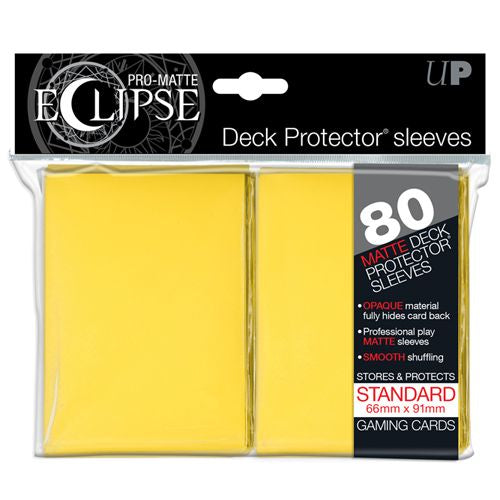 PRO MATTE ECLIPSE: DECK PROTECTOR 80 COUNT PACK - YELLOW